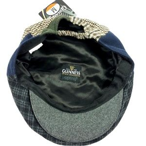 e884eeca81e Guinness Accessories - Guinness Beer Patchwork Tweed Flat Cap Snap Brim